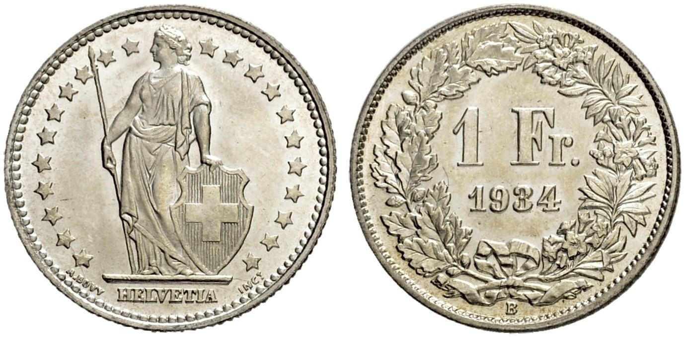 CH 1 Franken 1934 B