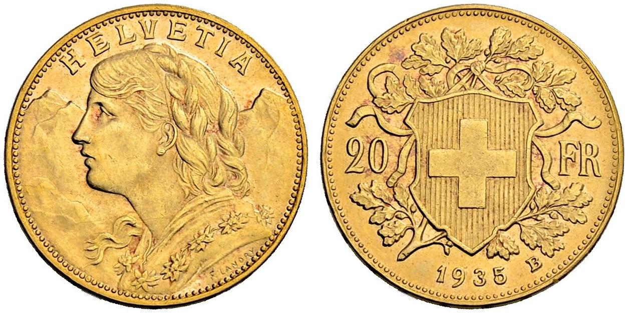CH 20 Franken 1935 B