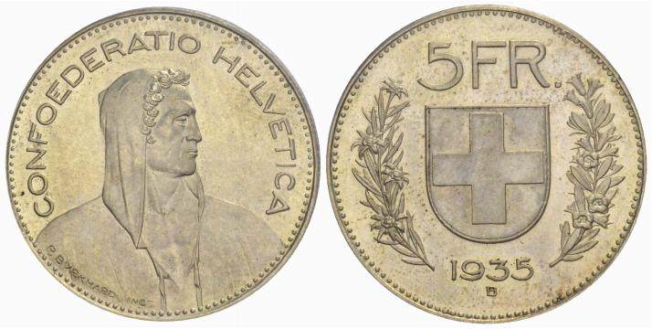 CH 5 Franken 1935 B