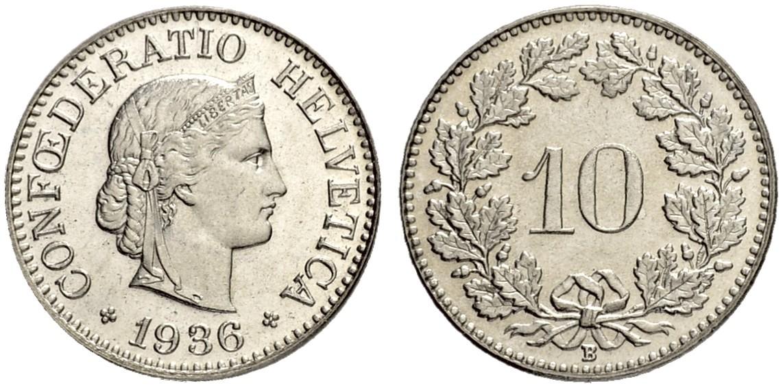 CH 10 Rappen 1936 B