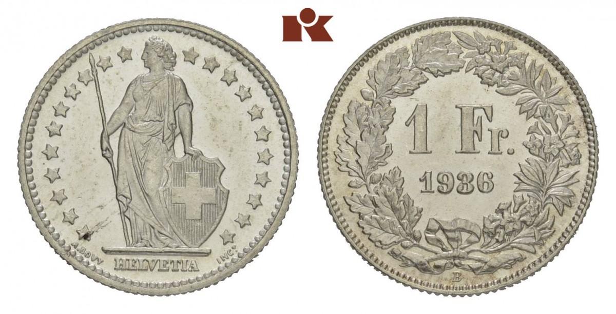 CH 1 Franken 1936 B