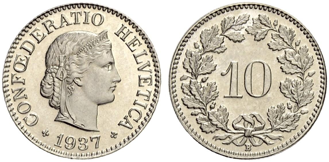 CH 10 Rappen 1937 B