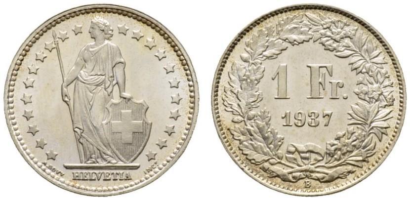 CH 1 Franken 1937 B