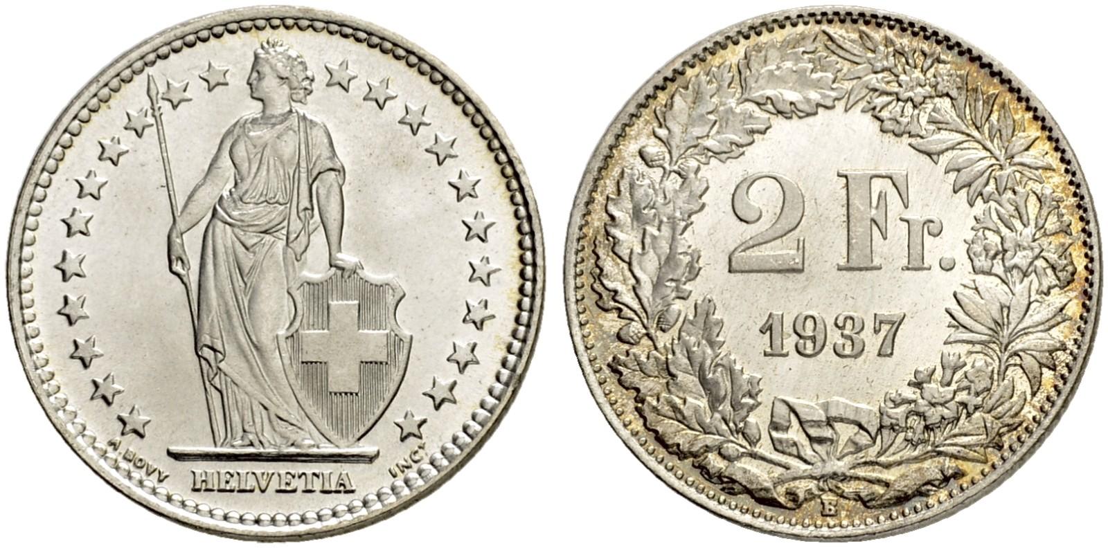 CH 2 Franken 1937 B