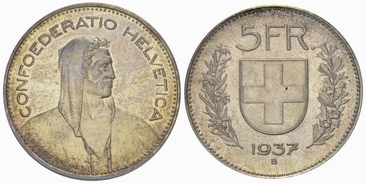 CH 5 Franken 1937 B