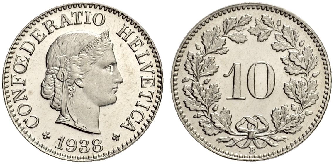 CH 10 Rappen 1938 B