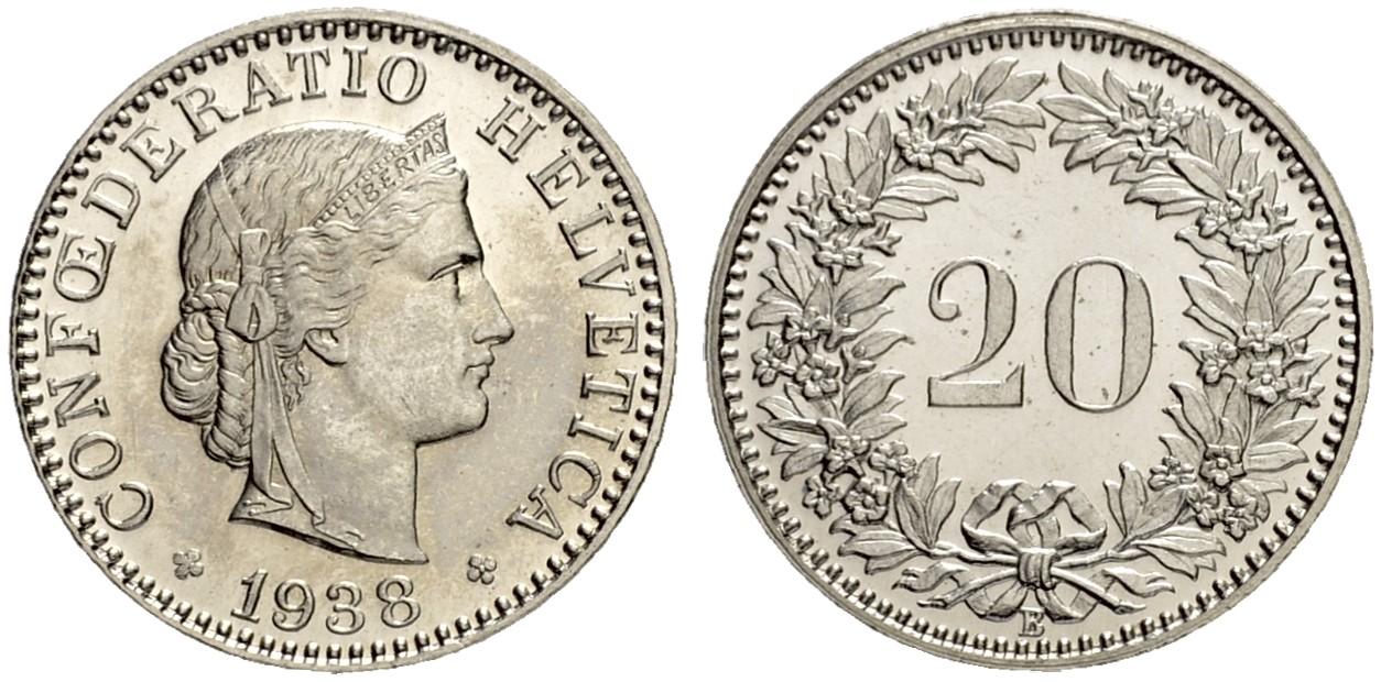 CH 20 Rappen 1938 B
