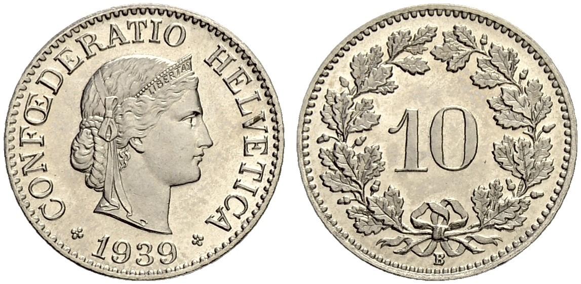 CH 10 Rappen 1939 B