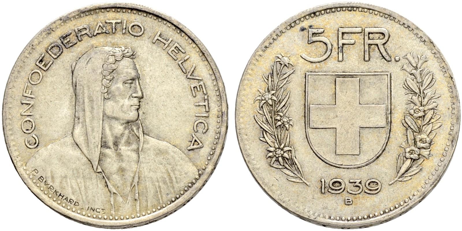 CH 5 Franken 1939 B
