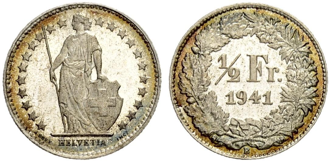 CH 1/2 Franken 1941 B