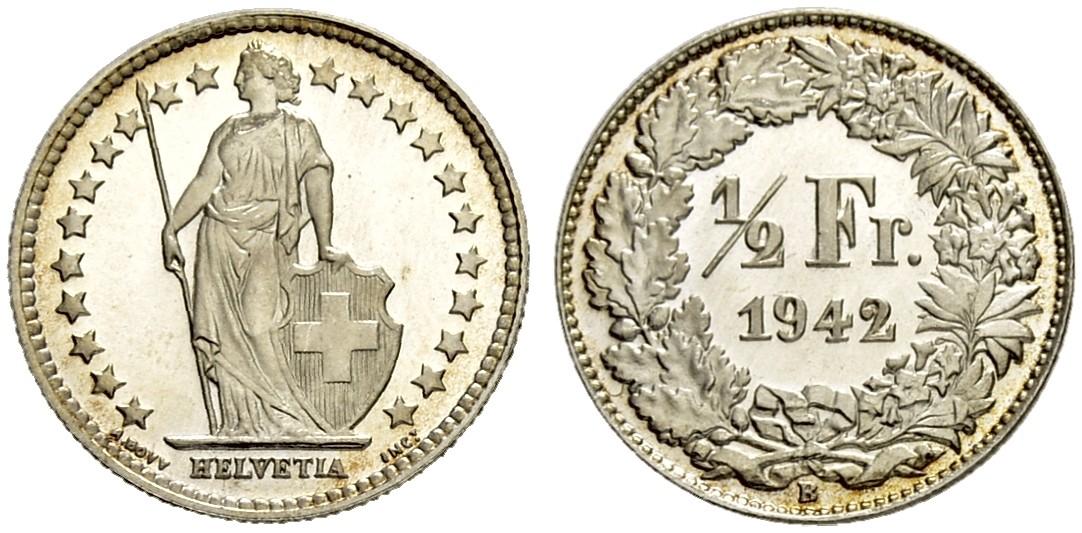 CH 1/2 Franken 1942 B
