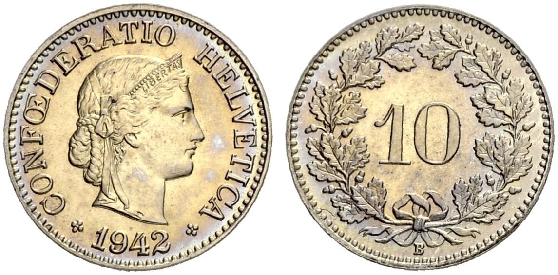 CH 10 Rappen 1942 B
