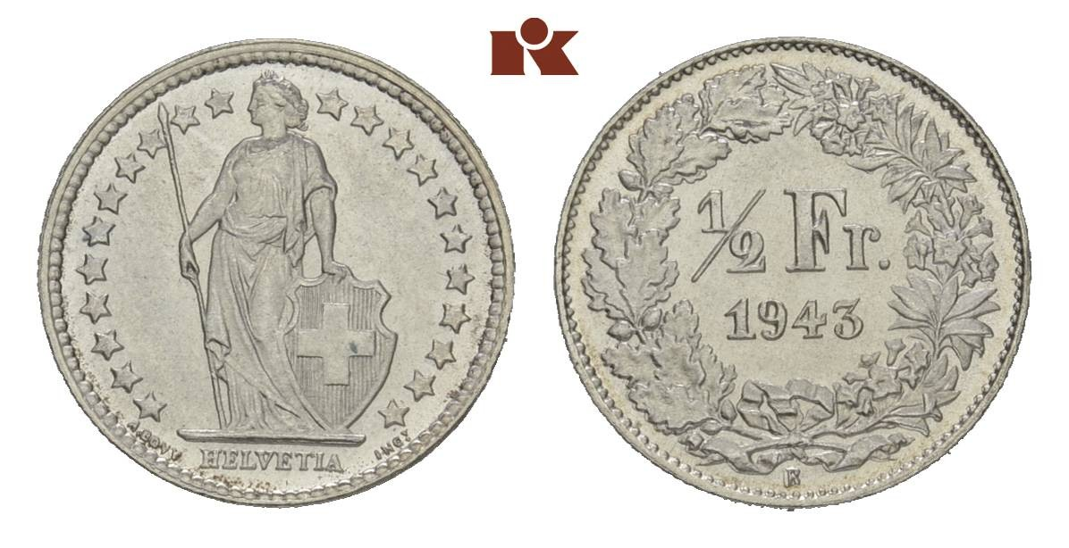 CH 1/2 Franken 1943 B