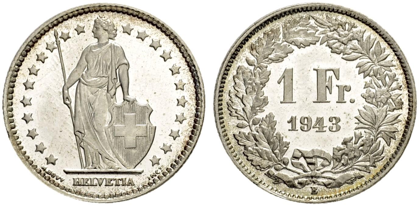 CH 1 Franken 1943 B