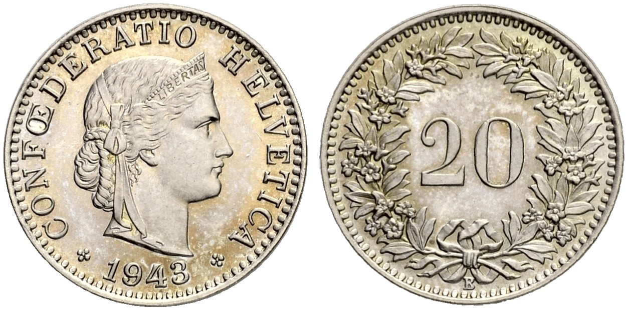 CH 20 Rappen 1943 B