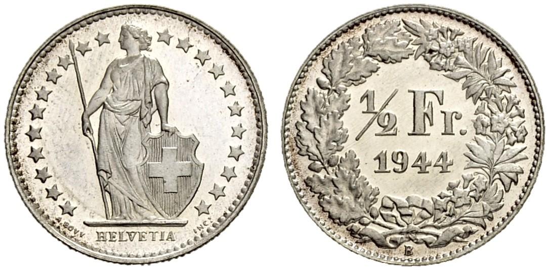 CH 1/2 Franken 1944 B
