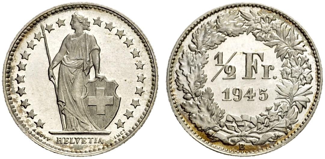 CH 1/2 Franken 1945 B