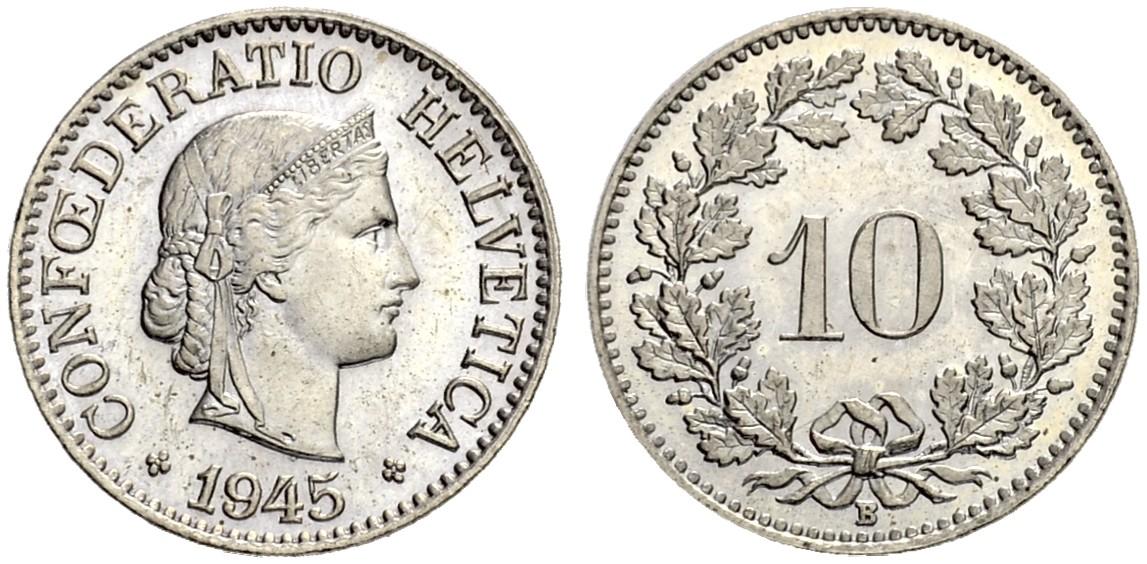 CH 10 Rappen 1945 B