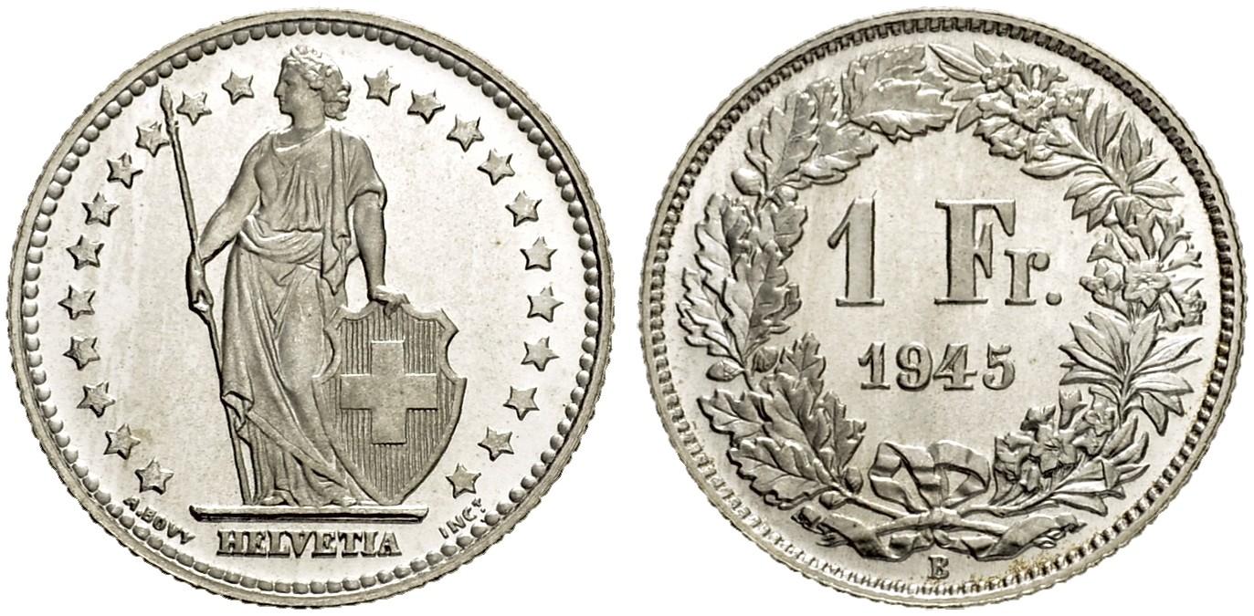 CH 1 Franken 1945 B