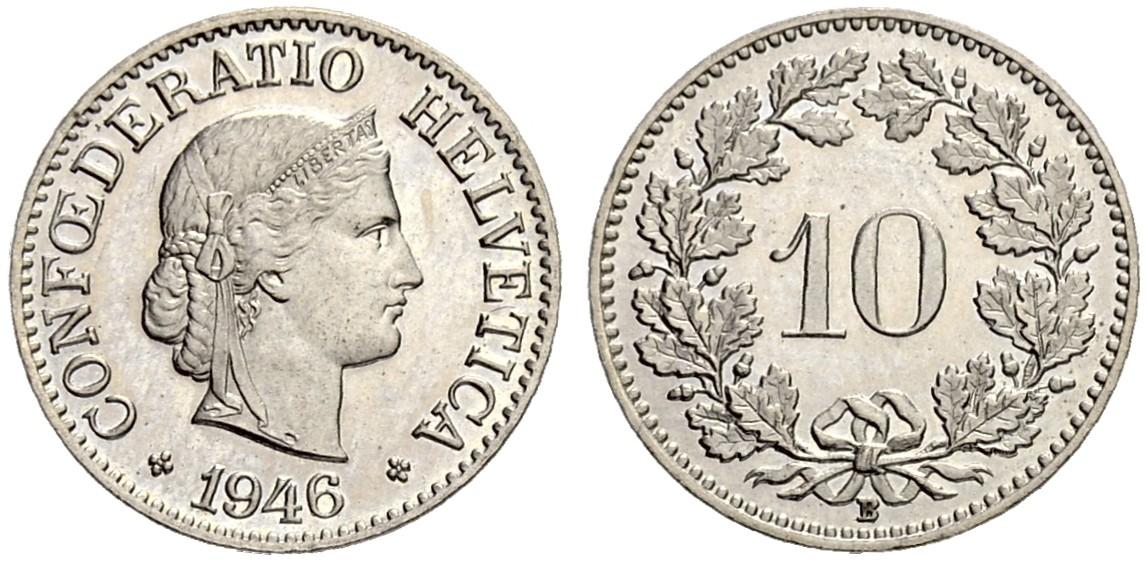 CH 10 Rappen 1946 B