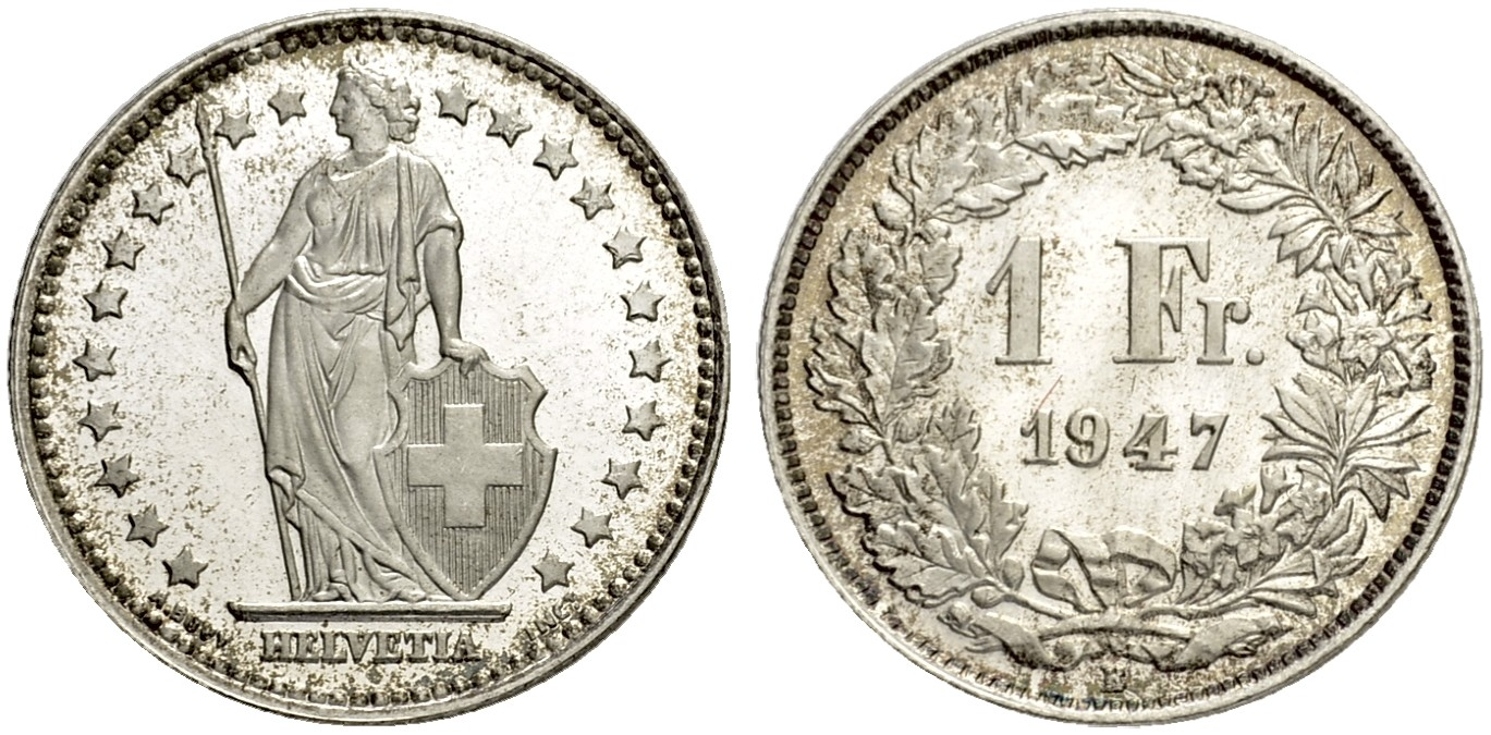 CH 1 Franken 1947 B