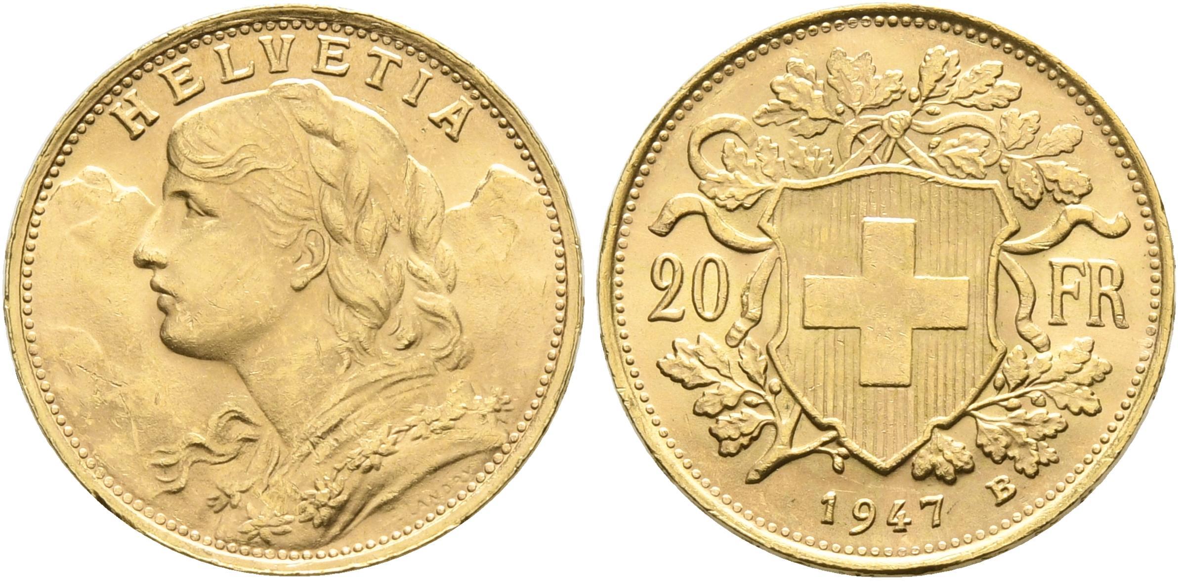 CH 20 Franken 1947 B
