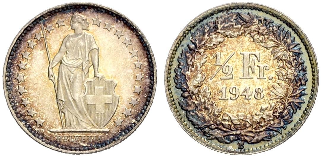 CH 1/2 Franken 1948 B