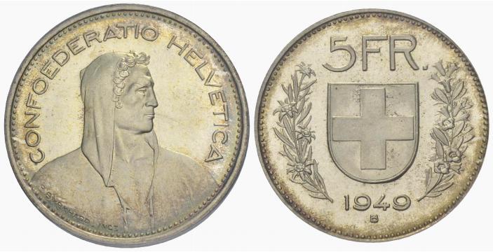 CH 5 Franken 1949 B