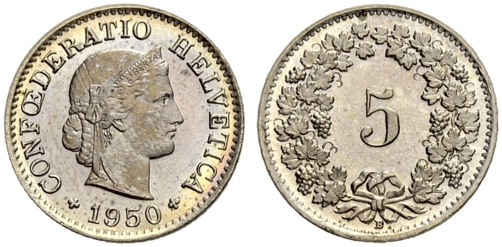 CH 5 Rappen 1950 B