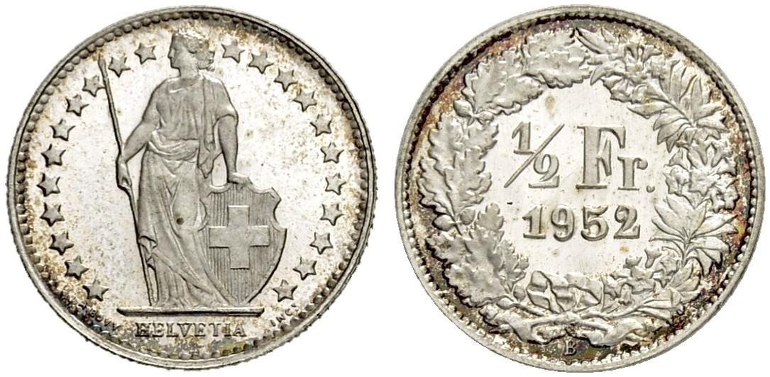CH 1/2 Franken 1952 B