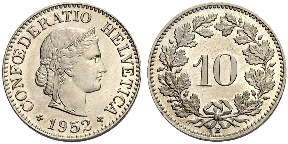 CH 10 Rappen 1952 B