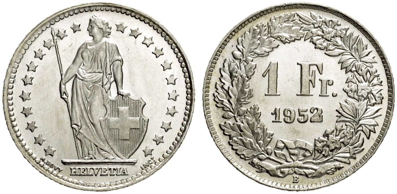 CH 1 Franken 1952 B