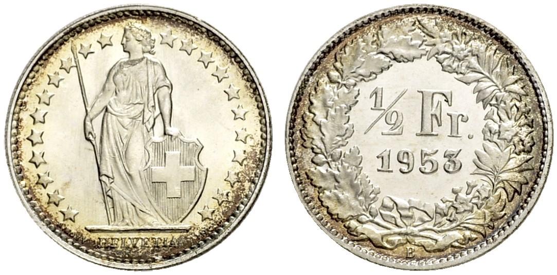 CH 1/2 Franken 1953 B