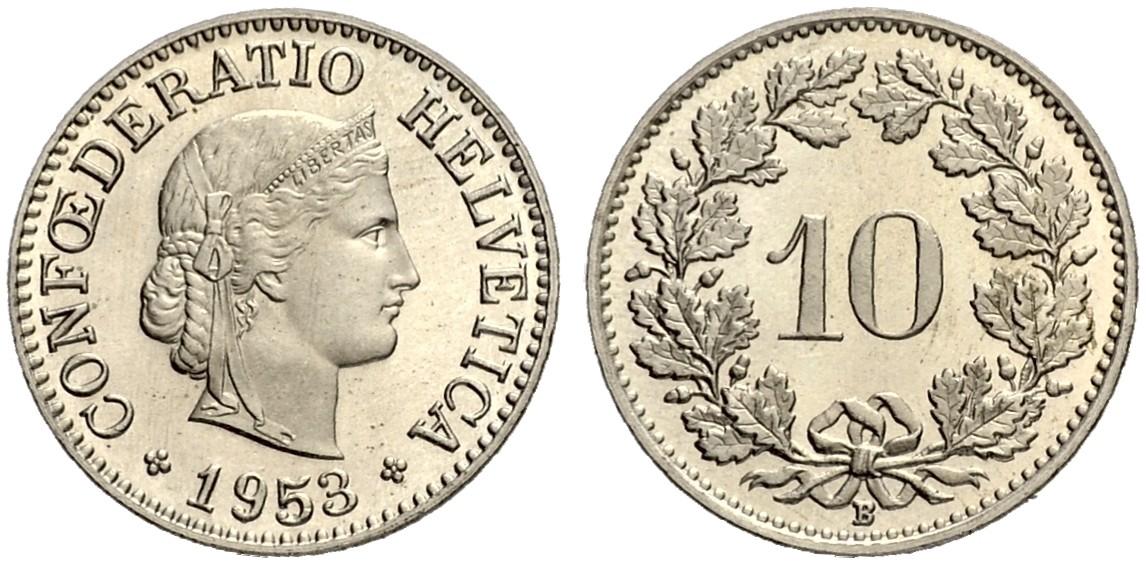 CH 10 Rappen 1953 B
