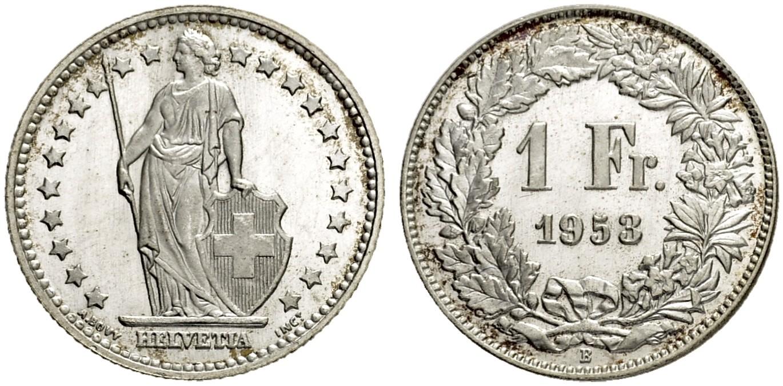 CH 1 Franken 1953 B
