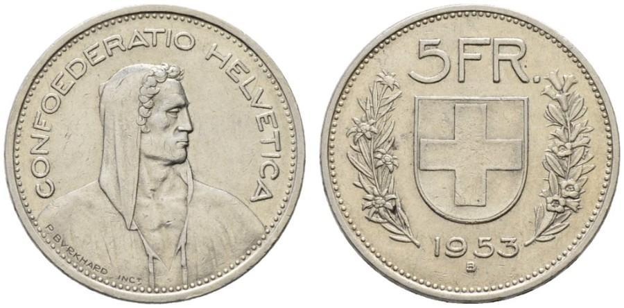 CH 5 Franken 1953 B