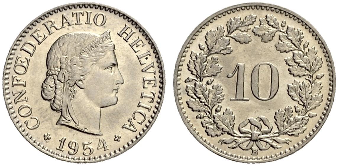 CH 10 Rappen 1954 B