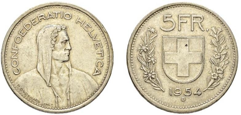 CH 5 Franken 1954 B