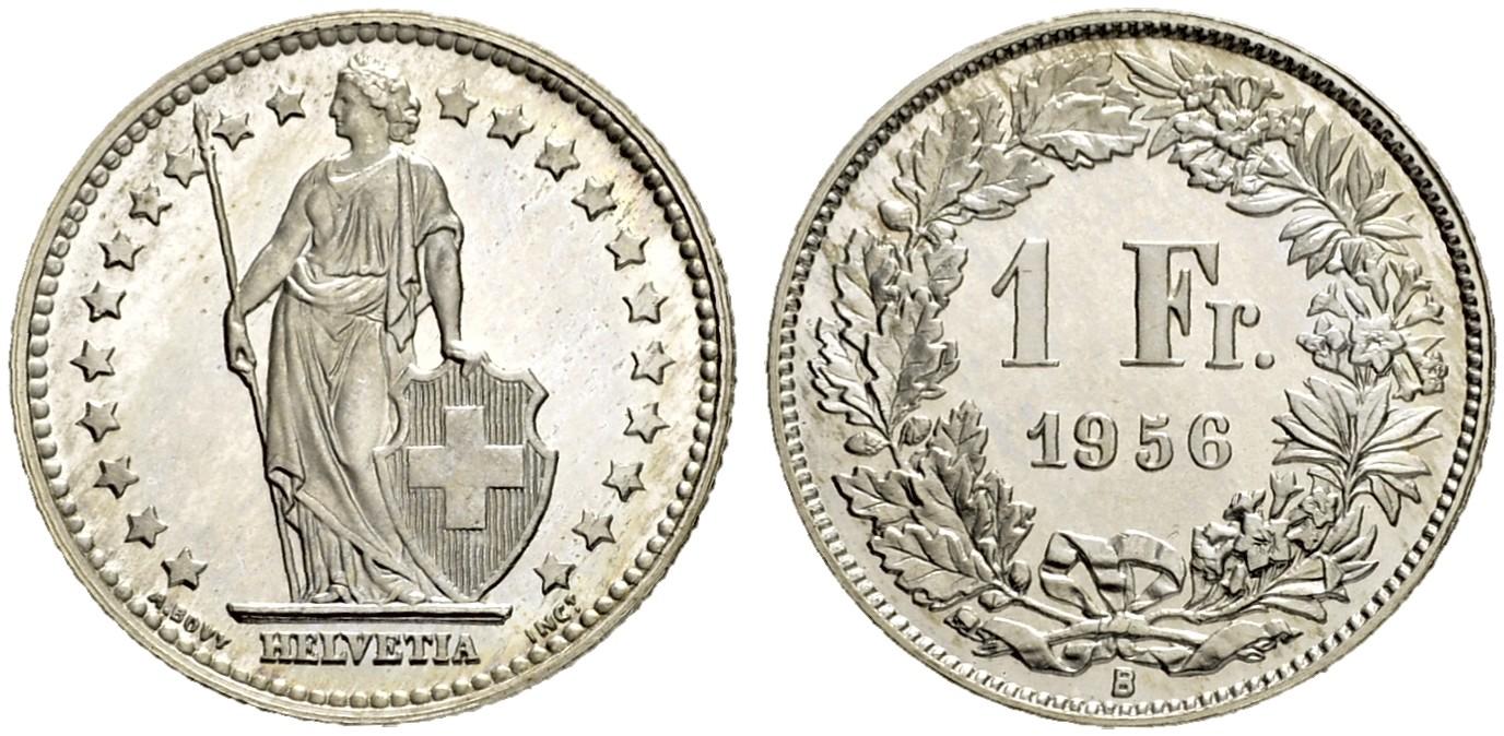CH 1 Franken 1956 B