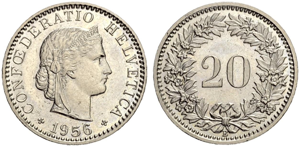 CH 20 Rappen 1956 B