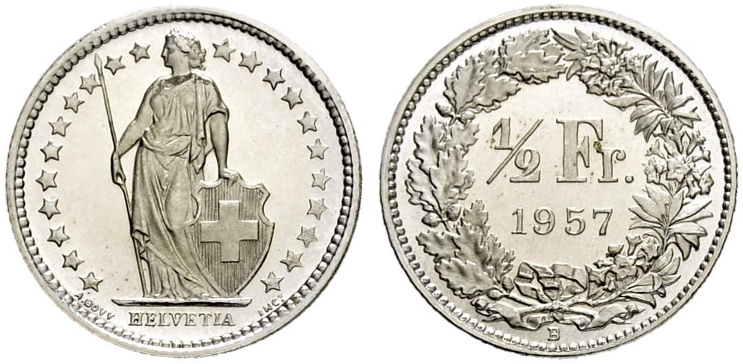 CH 1/2 Franken 1957 B