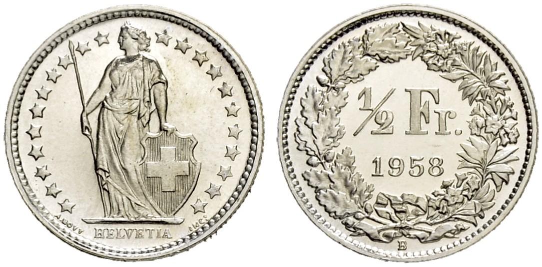 CH 1/2 Franken 1958 B