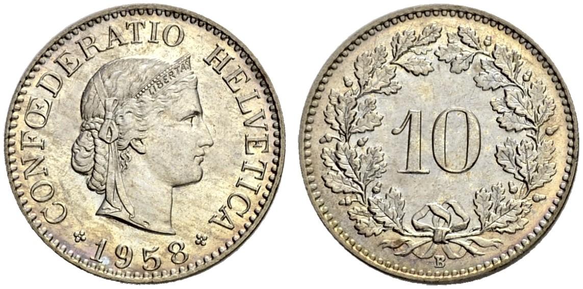 CH 10 Rappen 1958 B