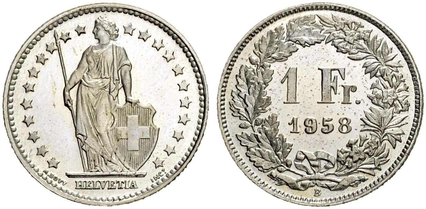 CH 1 Franken 1958 B