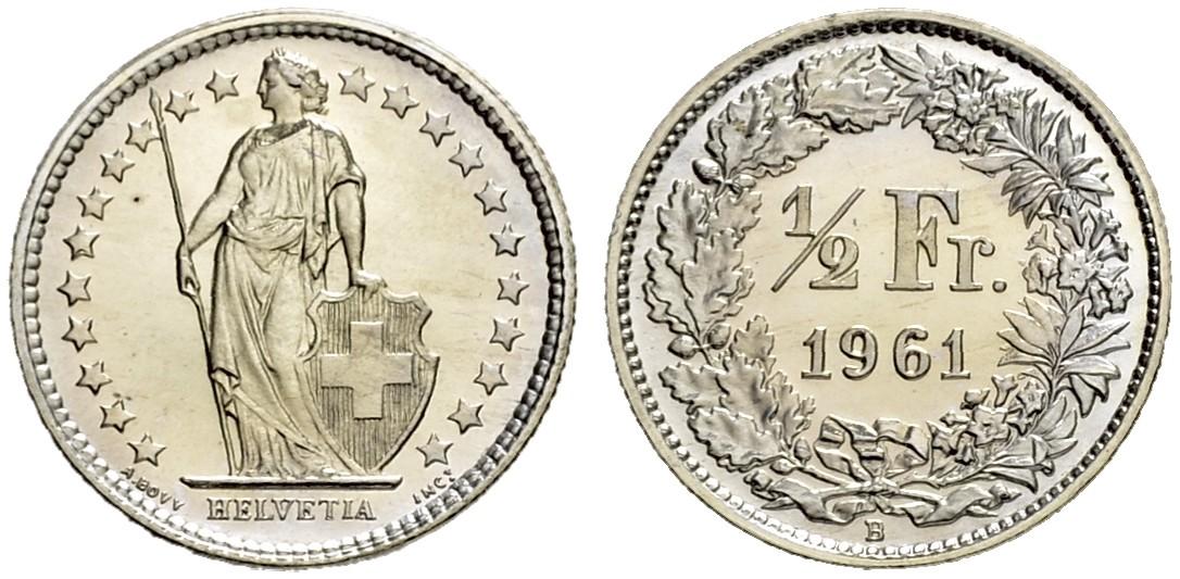 CH 1/2 Franken 1961 B