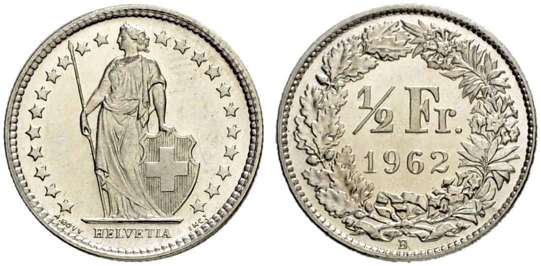 CH 1/2 Franken 1962 B
