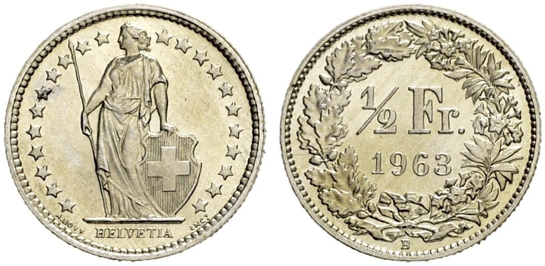 CH 1/2 Franken 1963 B