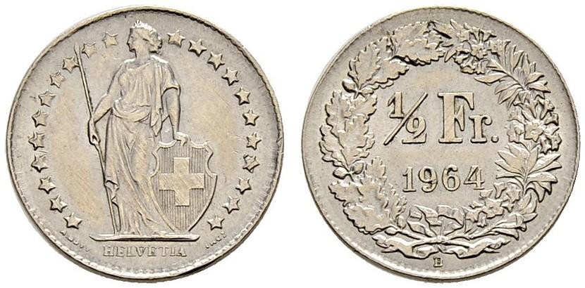 CH 1/2 Franken 1964 B
