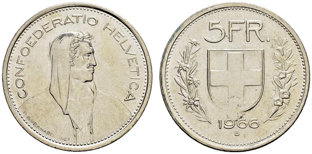 CH 5 Franken 1966 B