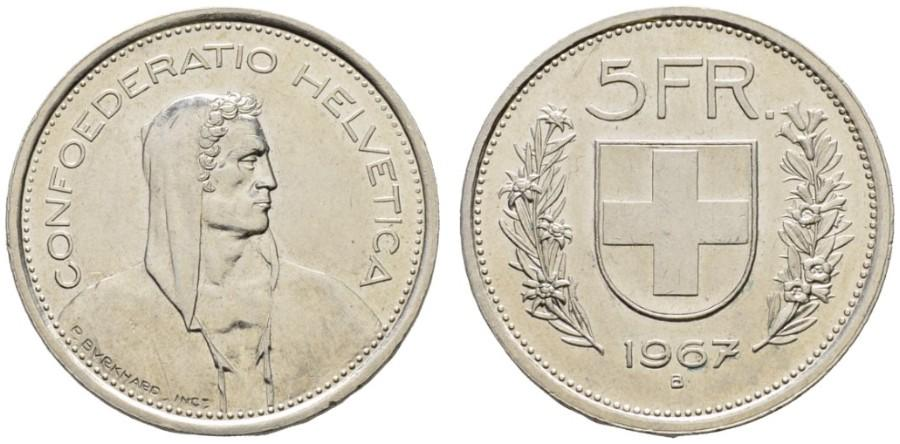 CH 5 Franken 1967 B